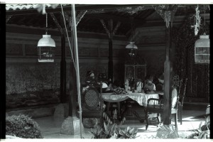 Family supper, the Prince's Palace, Ubud, Bali 1992